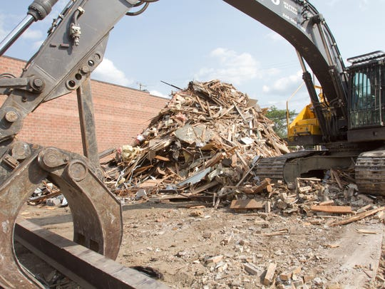 A former law office was demolished while ground was