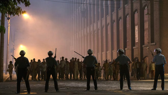 "This image released by Annapurna Pictures shows a scene from the 1967 riots drama ""Detroit."" Directed by Kathryn Bigelow, the film opens Aug. 4, 2017."