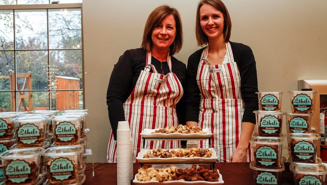 Ethel's Baking Co. founder Jill Bommarito, left, and director of production Bethani Nabozny pose during the second annual Whisked: A Holiday Baking Event in November 2017 presented by the Detroit Free Press and the Metro Detroit Chevy Dealers at the Great Lakes Culinary Center in Southfield.