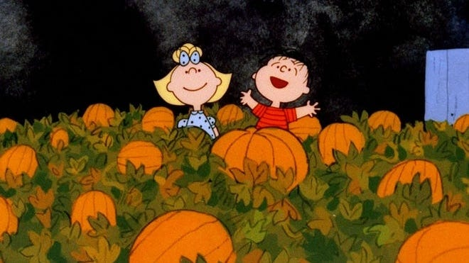 """""""It's the Great Pumpkin, Charlie Brown,"""" a staple of TV since 1965, will not air on a broadcast network this year for the first time. Apple TV+ bought the rights, along with the other Peanuts holiday specials, and is offering them for free - with a trial membership."""