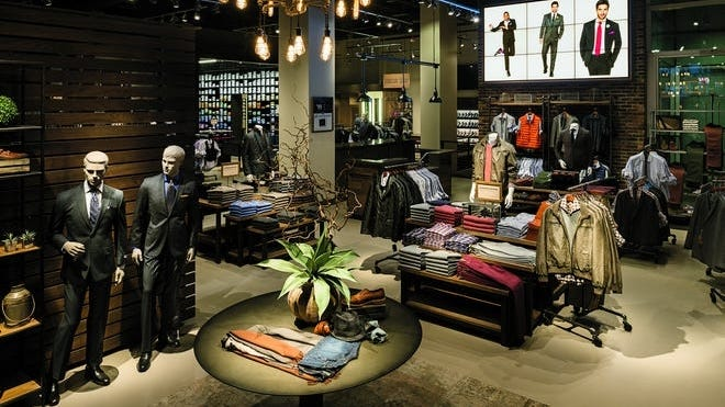Men's Wearhouse in Manhattan. After years of business attire becoming increasingly casual, the sudden transition to working from home for millions of Americans has undermined retailers that sell dress clothes.