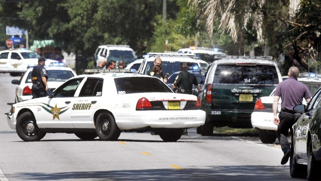 Escambia Sheriff's Office deputies and investigators responded to a report of gunfire on Cerny Road.