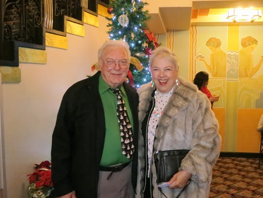 Jim Bogue of Oak Run and Mary Wilburn of Redding attend