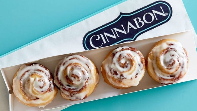 The Westgate Mall in Brockton is celebrating a sweet addition to its lineup of stores and eateries on Friday. Cinnabon is opening as part of a new expanded joint location together with preexisting Auntie Anne's pretzel stand and the Carvel ice cream shop.