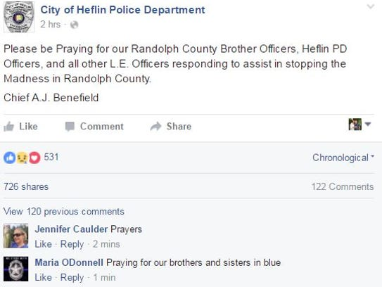 A Randolph County deputy was shot in what has unfolded
