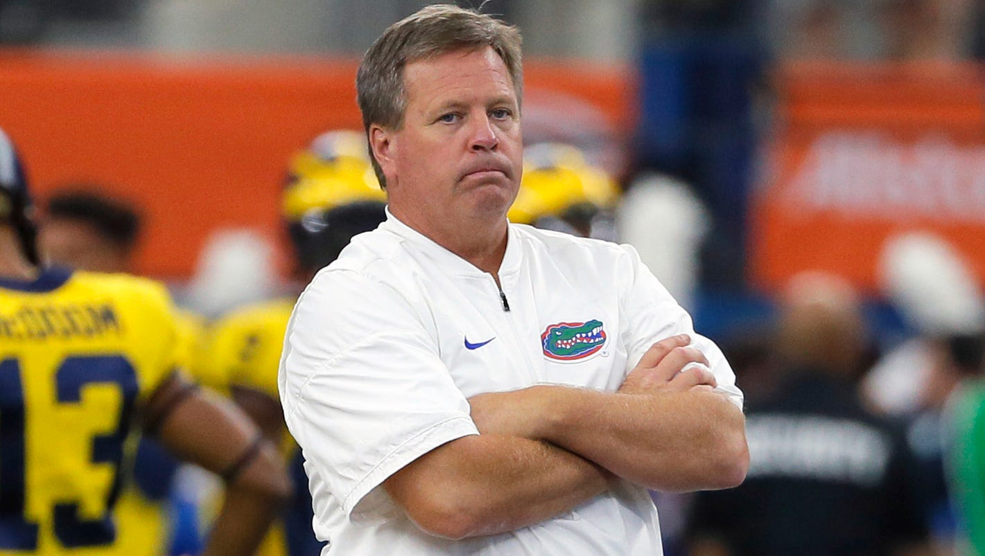 Florida coach Jim McElwain says his and other coaches' families have received death threats