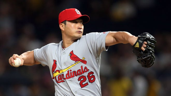 Seung-Hwan Oh was 1-6 with a 4.10 ERA and 20 saves in 24 chances last year for the Cardinals.