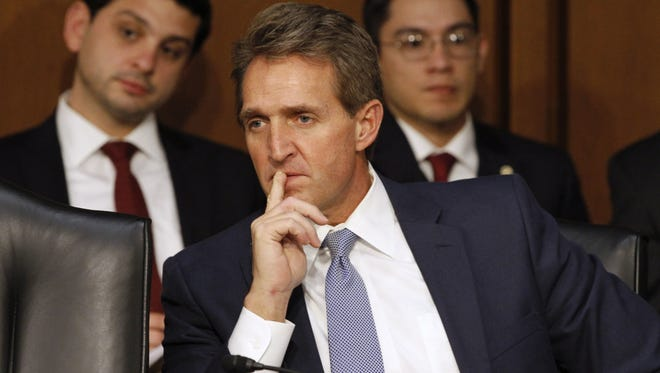 RESTRAINT. Flake repeatedly raised the flag about wasteful spending and earmarks. He published an annual, pun-filled list highlighting the federal government's worst examples of pork-barrel spending.
