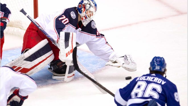 Goalie Joonas Korpisalo set a modern NHL record with 85 saves for the Blue Jackets, but it wasn't enough to defeat the Tampa Bay Lightning in five overtimes on Tuesday at Scotiabank Arena in Toronto.
