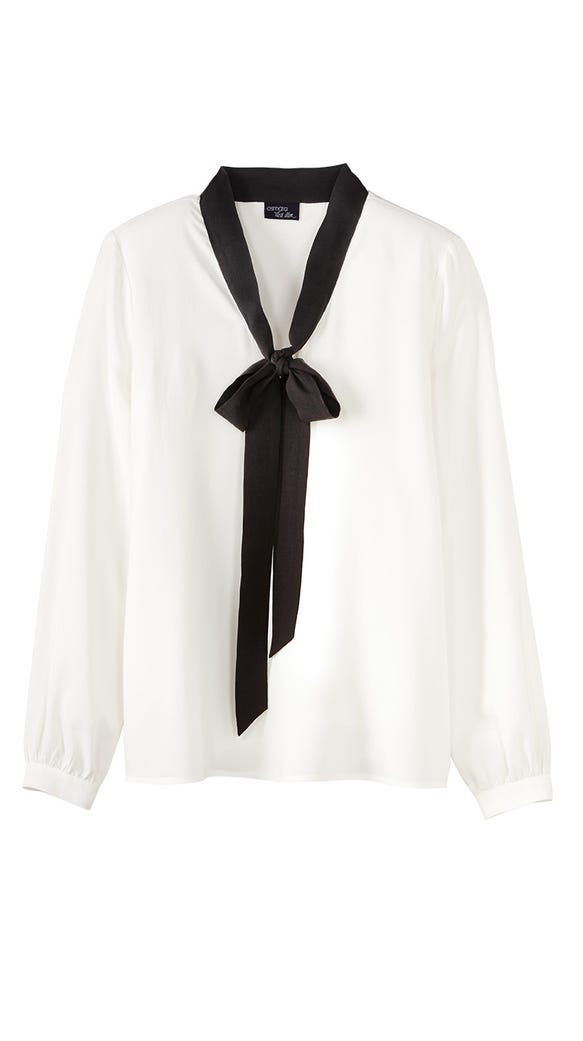 Pussybow blouse in off-white from Esmara by Heidi Klum