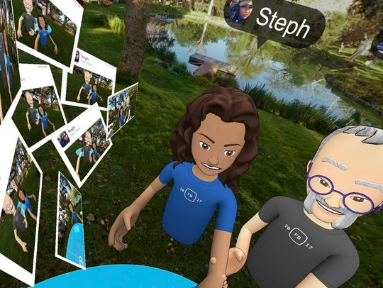We could share Facebook pictures inside Facebook Spaces.