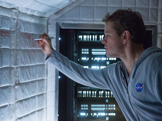 """Matt Damon is an  astronaut who must draw upon his ingenuity to survive in """"The Martian."""""""