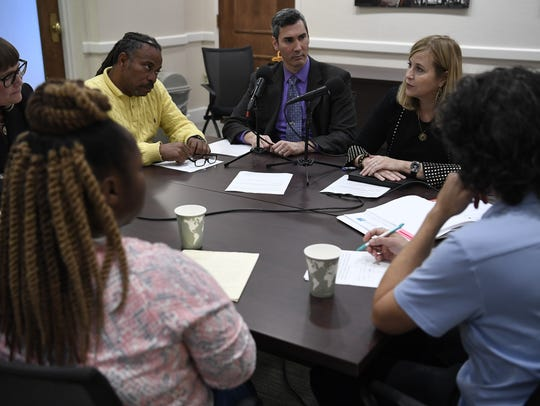Tennessean opinion editor David Plazas leads a roundtable