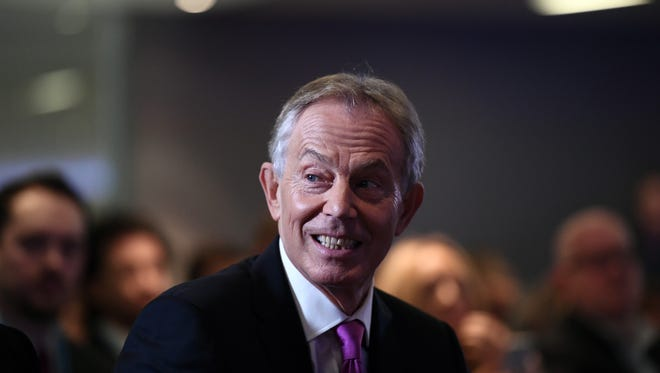 Former British Prime Minister Tony Blair waits to deliver a keynote speech at a pro-EU event on Feb. 17, 2017 in London, England.