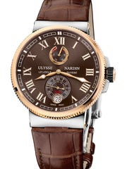 A $15,200 Ulysse Nardin Marine Chronometer Manufacture watch.