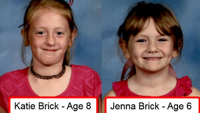 Missing girls, Katie Brick, 8 and Jenna Brick, 6.