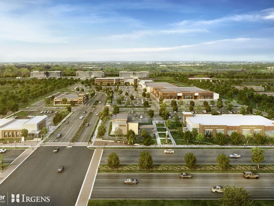 The Corridor mixed-use development, in Brookfield,