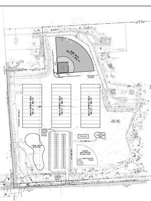 The conceptual design of a new park in Lyon Township.
