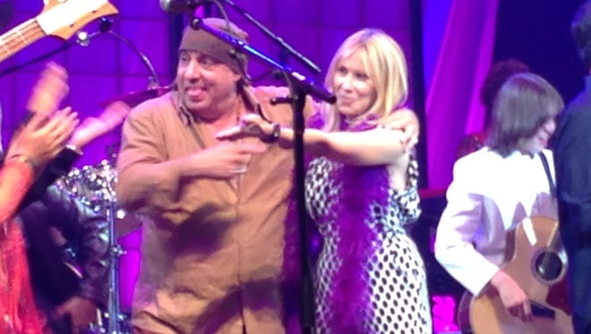 Steven and Van Zandt at the Count Basie Theatre in Red Bank for the 2015 Vanguard Awards.