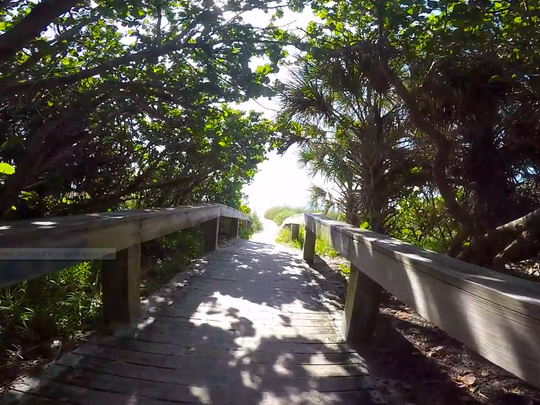 You can walk, run, swim, paddle or ride bikes on this stretch of beach in Cape Canaveral.