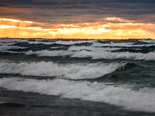 The National Weather Service issued a gale warning Friday afternoon for parts of lakes Superior, Huron and Michigan.