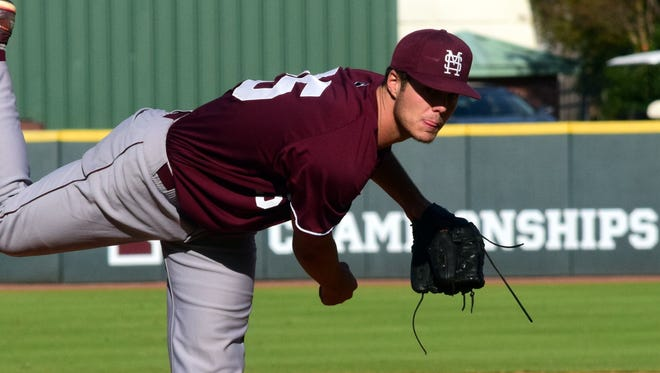 Mississippi State's Dakota Hudson has the chance to pitch his way into the first round of the MLB draft in June.