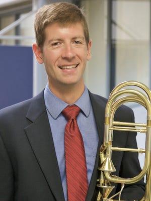 Bass trombonist Jeffrey Gray.