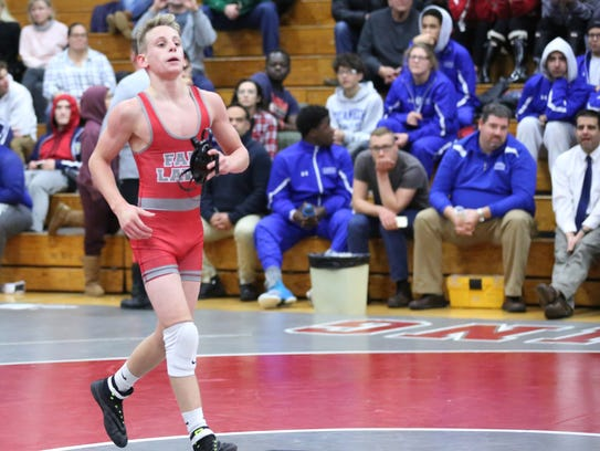 Fair Lawn's Dylan Cedeno won the 106-pound title at