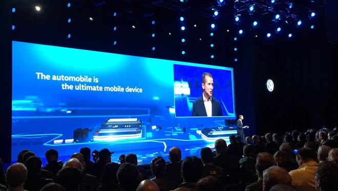 VW chairman Herbert Diess kicked off CES with a keynote and tackled the company's emissions scandal head on.