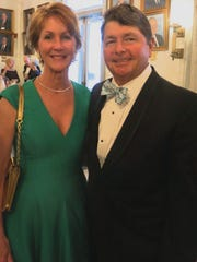 Paula Frierson and hubby, Planter Chris Frierson, arrive for the Plantation Ball.