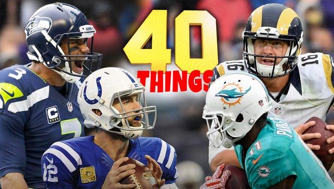 40 things we learned in NFL Week 11.