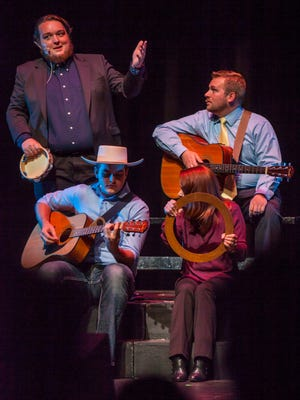 Actors perform a musical number during the Neil Simon Festival preview Tuesday evening at the Heritage Center Theater, July, 5, 2016.