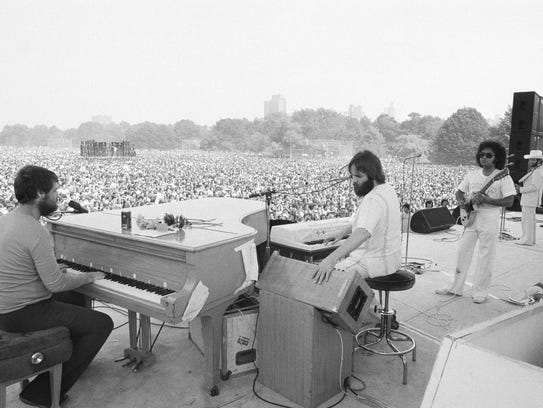 Members of the Beach Boys (Brian Wilson is seated at