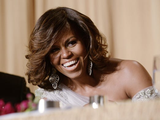 U.S. First Lady Michelle Obama attends the annual White House Correspondent's Association Gala at the Washington Hilton hotel May 3, 2014, in Washington, D.C.
