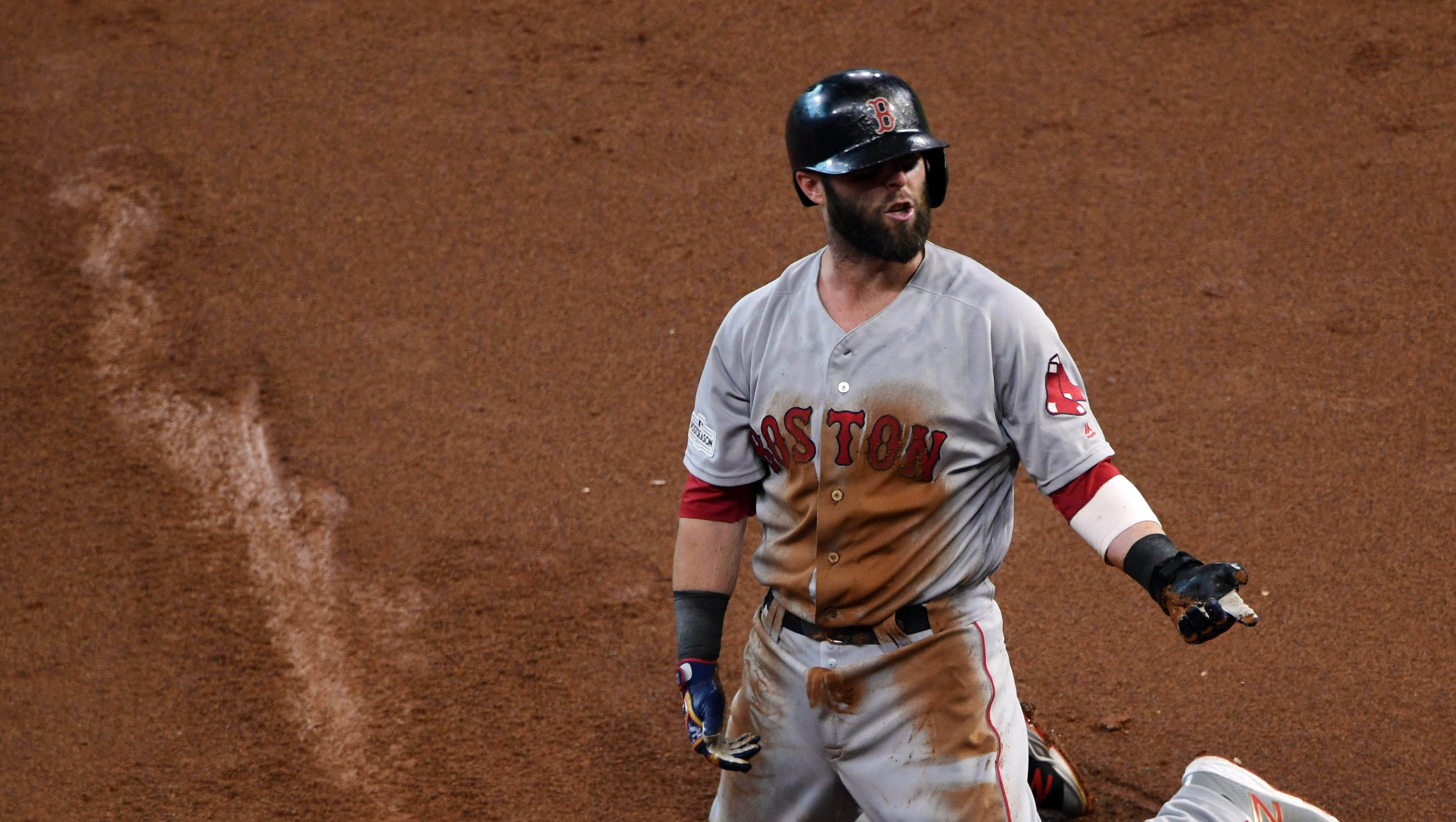 Image result for reddick throws out pedroia