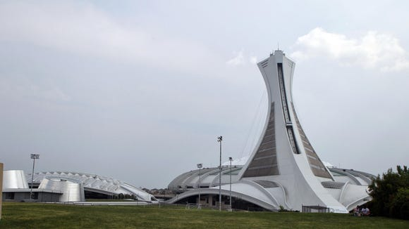 A general view of the Olympic Stadium as seen from the Stade Saputo in August.