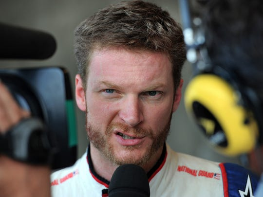 Dale Earnhardt Jr. at Indianapolis Motor Speedway in 2013
