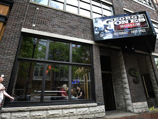 Nancy Jones sits inside the George Jones Museum on