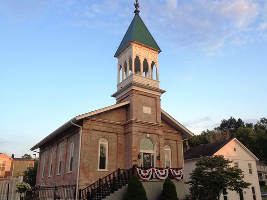 The old Presbyterian Church which dates to 1859 on