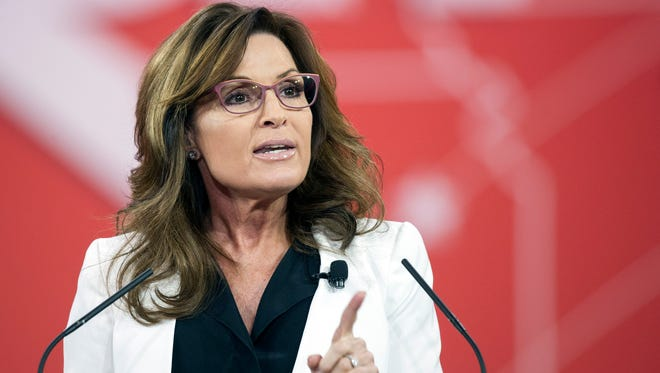 Sarah Palin at Conservative Political Action Conference in February.
