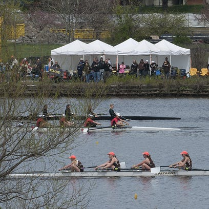 Rowers participate during the Garden State Scholastic