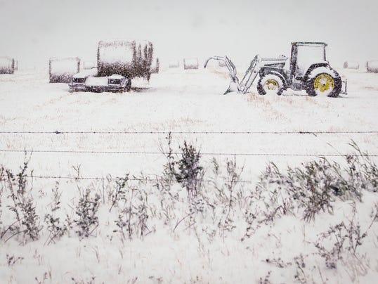 Canada Alberta Snow _Hill