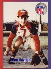 Jean Havlish's baseball card. She played shortstop
