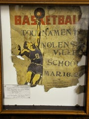 A poster from a basketball tournament was found in