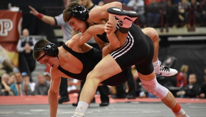 Genoa's Dylan D'Emilio earned his third straight state championship as a junior.