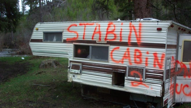 Officials discovered an abandoned trailer on Forest Service land.