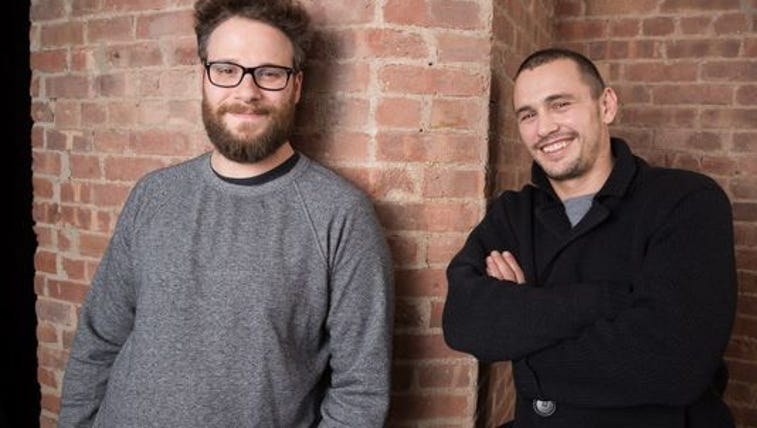Friends and co-starts Seth Rogen and James Franco