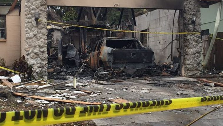 The home at 2142 Cork Oak St. exploded and burned Thursday