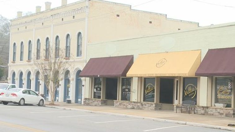 Nine buildings in downtown Grantville are for sale.