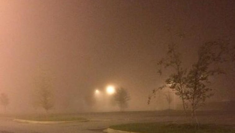 Fog covers the Charlotte region Wednesday morning.